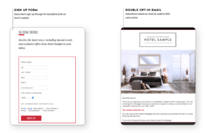 Guestfolio double opt-in