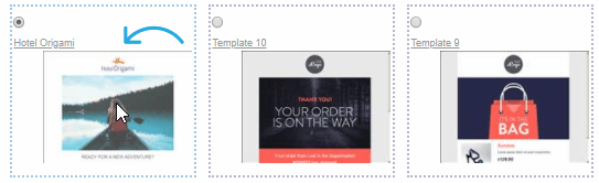 Select email Template
